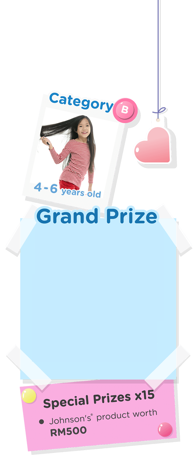 Grand Prize Special Prizes x15 Johnson's  product worth RM500